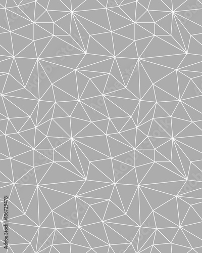 Seamless polygonal pattern background, creative design templates - 186729478