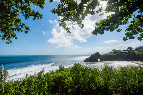 Plexiglas Tropical strand Tropical beach nature, background.