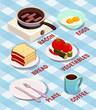 Food Cooking Isometric Composition - 186742486
