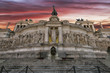 altar of the homeland in Rome at sunset