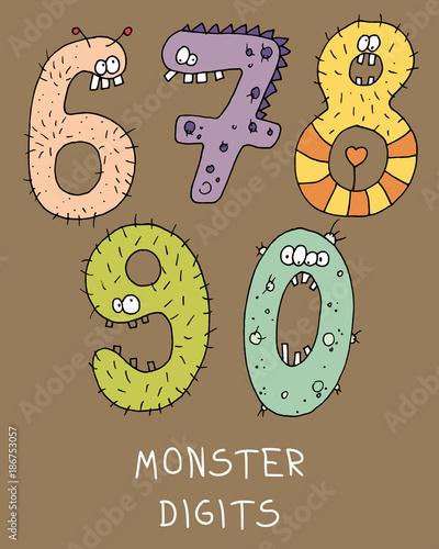 monster digits - 186753057