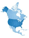 Map of North America - 186759403
