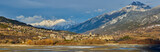Winter panoramic view on Embrun and the Durance Valley in the Hautes-Alpes. French Alps, France - 186763088
