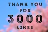 3000 likes - social media thank you banner