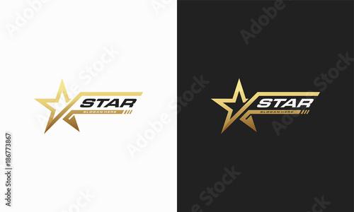 Luxury Gold Star logo designs template, Elegant Star logo designs, Fast star logo designs concept - 186773867