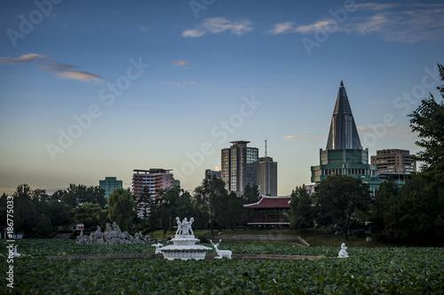 Fotobehang London North Korea