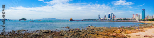 Fototapeta The beautiful seaside scenery of Qingdao