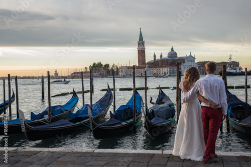 Venice wedding couple in venice Italy