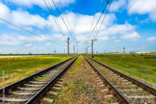 In de dag Spoorlijn Old railway tracks