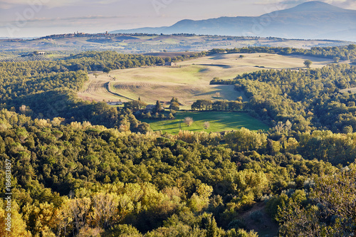 Foto op Canvas Natuur Landscape of San Quirico d'Orcia, Tuscany, Italy