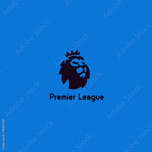 Lion vector. The Logo of The New English Premier League