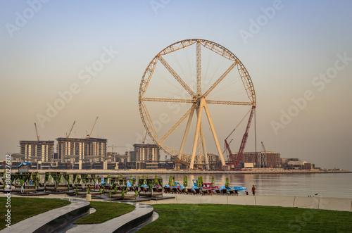 View of Dubai Eye and Dubai Ferris Wheel in JBR