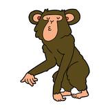 cartoon chimpanzee - 186831273