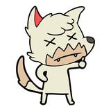 cartoon dead fox - 186832273