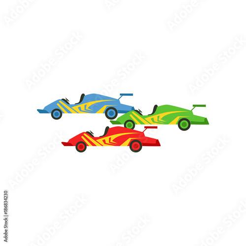 Fotobehang F1 Motorsports race cars, Singapore Formula One race vector Illustration