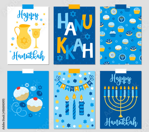 Set of six hanukkah greeting cards with menorah oil jewish star set of six hanukkah greeting cards with menorah oil jewish star m4hsunfo
