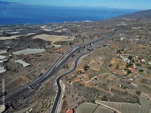 Staande foto Grijs Teneriffa aus der Luft