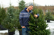 Man Buying Christmas Tree