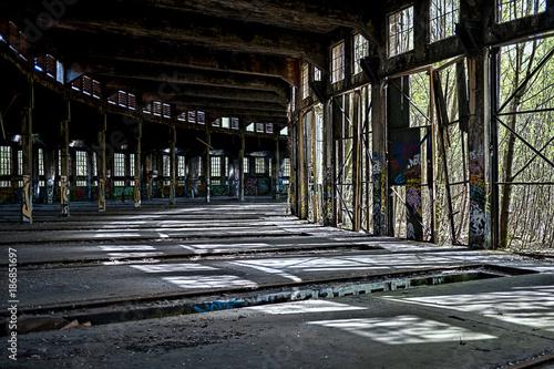 Foto op Aluminium Oude verlaten gebouwen Old freight depot