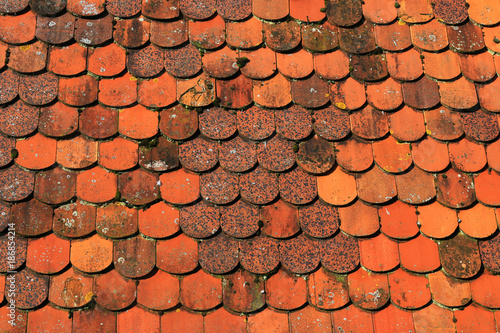 In de dag Brandhout textuur Dachziegel