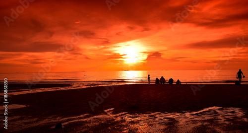 Poster Koraal sunset