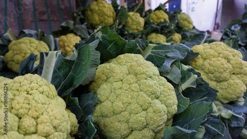 Fotobehang Aubergine Palermo Sizilien Italien Markt