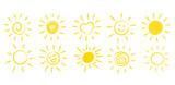 Ręcznie rysowane słońce - 186875842