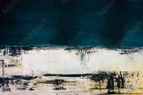 abstract blue acrylic painting on canvas © cceliaphoto
