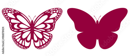 Butterfly For Laser Cutting - 186878424