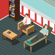 Psychotherapy Counseling Isometric Background