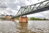Frankfurt am Main. Bridge over river