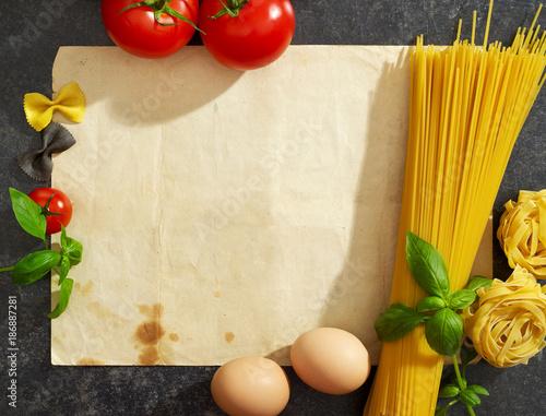 Fotobehang Kersen Pasta receipe
