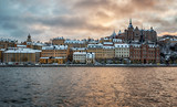 Stockholm city on a winter afternoon. - 186893885