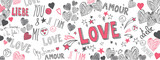 Love doodles background - 186895693