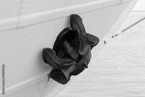 Foto op Aluminium Schip Closeup of Ship Anchor