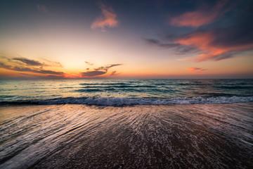 Sunrise at Tunisia coast.