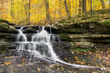 Autumn Waterfall at Tailwater - Owen County, Indiana
