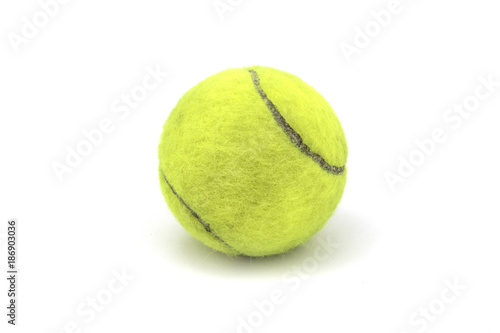Aluminium Tennis Yellow tennis ball isolated