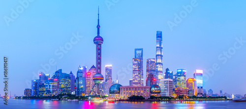 Aluminium Shanghai Shanghai Bund night view