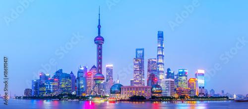 Staande foto Shanghai Shanghai Bund night view