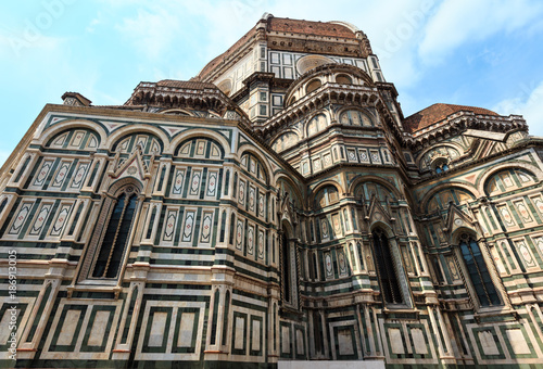 In de dag Florence Florence Cathedral, Tuscany, Italy