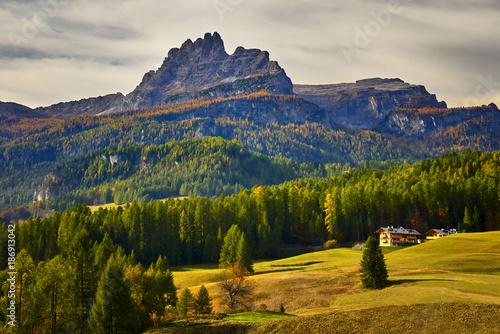 Foto op Canvas Nachtblauw Parco naturale Tre Cime