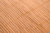 Bamboo mat close up with selective focus