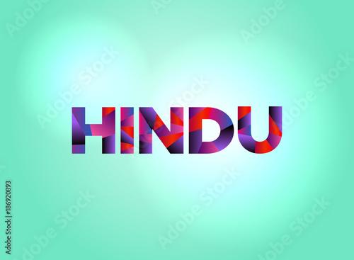Plakát Hindu Concept Colorful Word Art