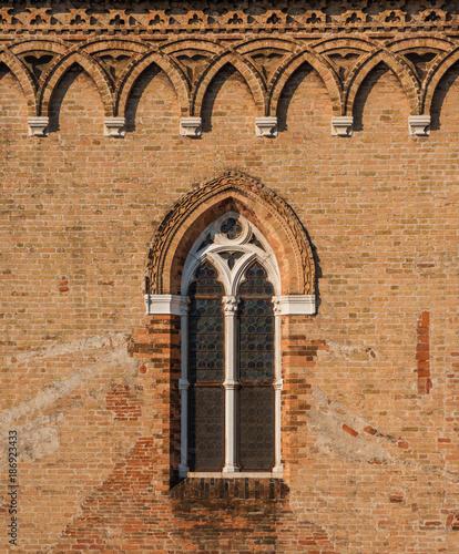 Poster Venetie Gothic window in Venice