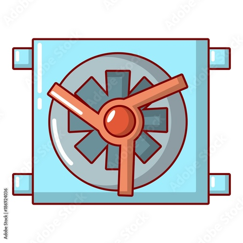 Aluminium Auto Dynamo car detail icon, cartoon style.