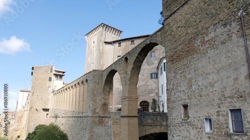 Poster Antiche mura di Pitigliano in Toscana