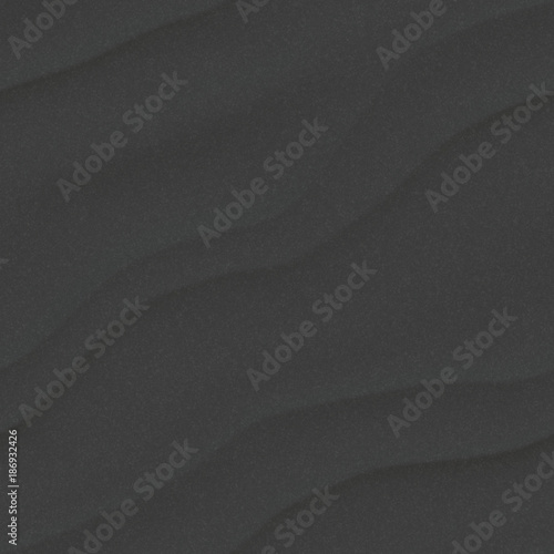 Fotobehang Abstract wave Black sand seamless texture for background