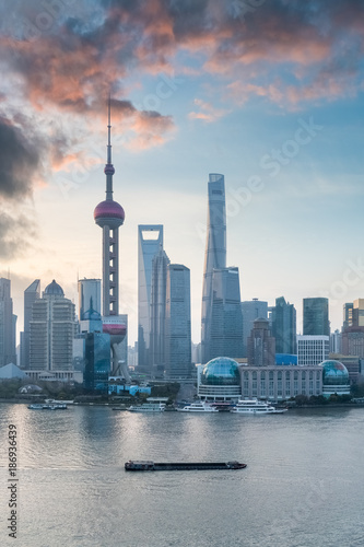 Fotobehang Shanghai shanghai cityscape with morning glow