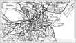 Dublin Ireland City Map in Black and White Color. - 186942015